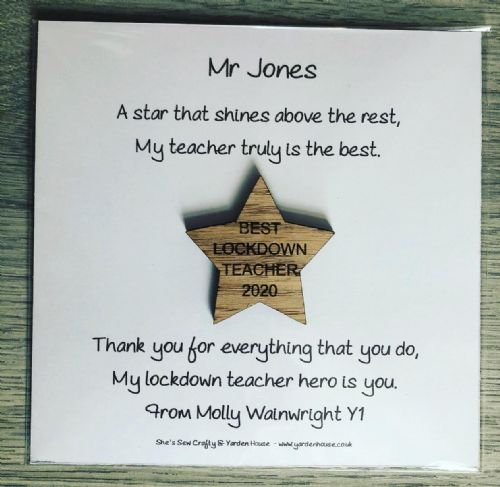 Lockdown Teacher - DELIVERED DIRECT TO ANY UK ADDRESS  (Price includes  P+P)